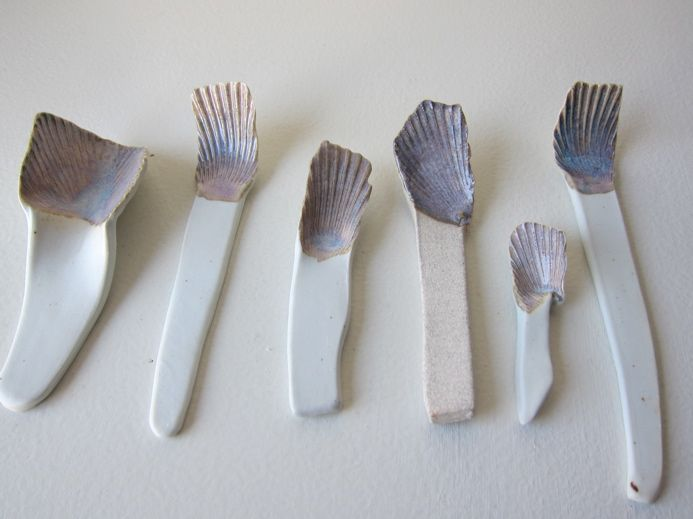 Ceramic Shell Spoons by Kelly Marie Conder