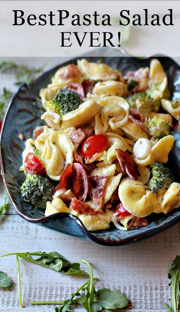 Best Pasta Salad Recipe Using Frozen Cheese Tortellini Recipe Best Pasta Salad Pasta Salad With Tortellini Tortellini Pasta Salad Recipes