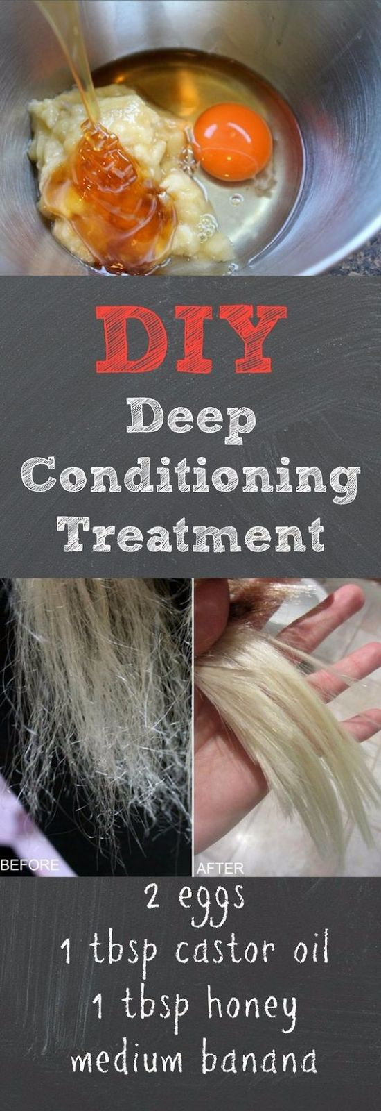 DIY DEEP CONDITIONING TREATMENT WITH EGG AND CASTOR OIL