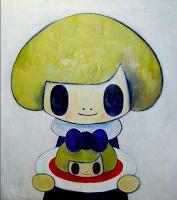 Tomoko Nagao. Salomè Blue (large version), 2013. oil on canvas 90x100cm.