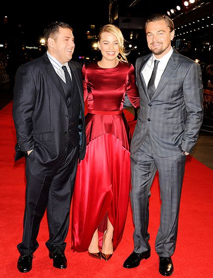 Jonah Hill, Margot Robbie and Leonardo DiCaprio at the London premiere of The Wolf of Wall Street