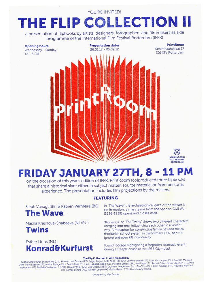 Studio Max Senden - graphic designer - design - grafisch ontwerper - ontwerp - flyer -poster - zine - PrintRoom - riso - risografie stencilprint - selfpublishing - selfpublished - Flipbooks - flipbook - flip - flip collection II