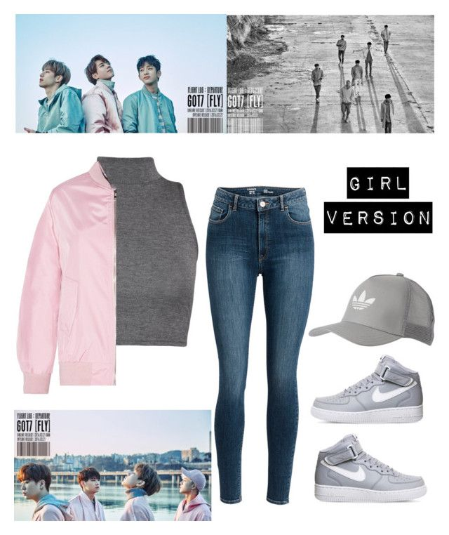 """got7 [fly] mv outfit"" by koreanclothes ❤ liked on Polyvore featuring WearAll, NIKE and adidas Originals"