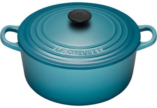 Have this. Love this. Want more Caribbean blue cookware.