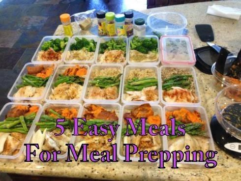 Diary of a Fit Mommy: 5 Easy Meals to Meal Prep Throughout the Week