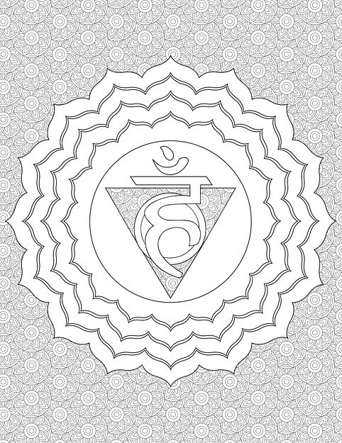 chakra symbols coloring pages - photo#25