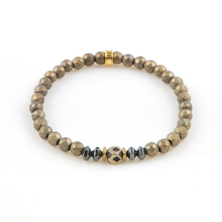 Men's African Brass Metallic Bracelet