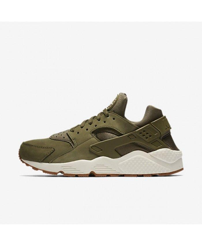 Chaussure Nike Huarache Olive Moyen Gomme Marron Voile ...