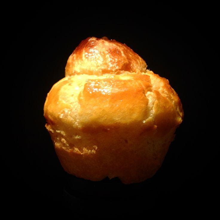 A small brioche à tête with 87% butter.