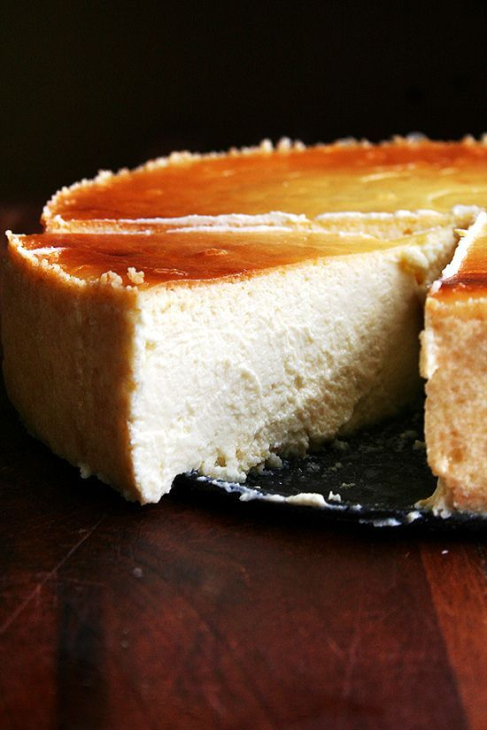 slice of lemon-ricotta cheesecake