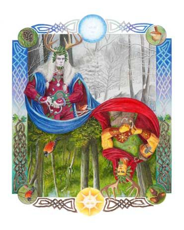 Holly King vs Oak King. The Summer Solstice is on the way on June 21st. Midsummer is Litha, the longest day of year when the Sun God is at His most powerful. After today, the Oak King begins to give way to the Holly King.