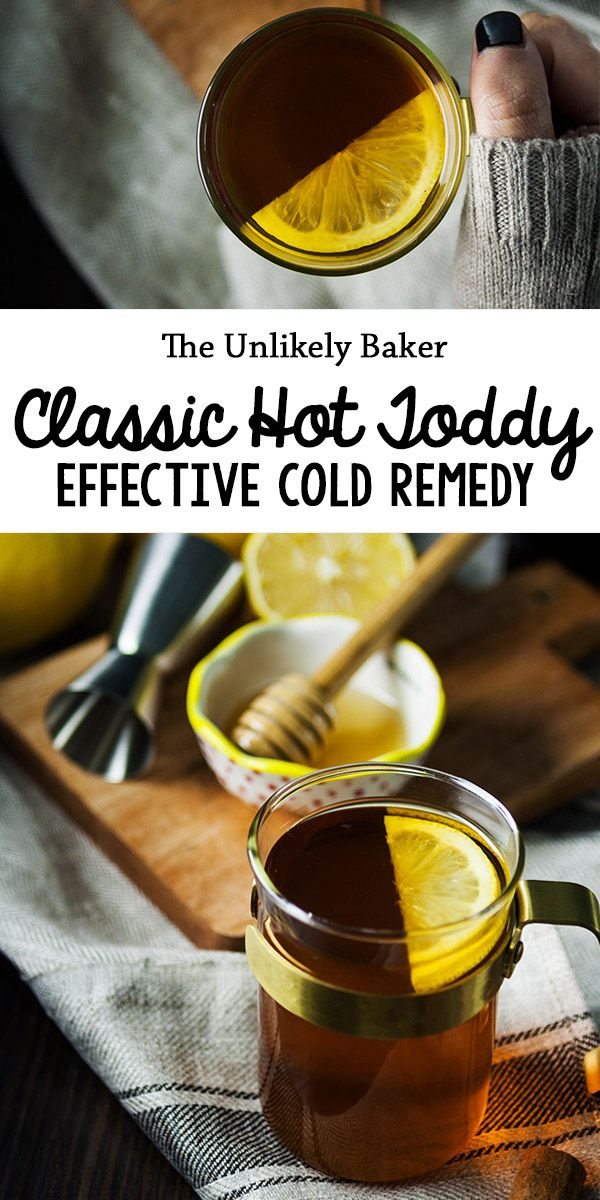 Warm, delicious and boozy, the classic hot toddy is a favourite winter drink. With honey, lemon and whiskey, what's not to love? It's proven effective against coughs and colds too #recipes #drink  #beverages #cocktails #winter #whiskey