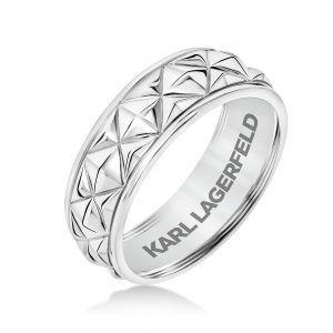 Karl Lagerfeld's Men's Wedding Bands Make a Fine Point – JCK