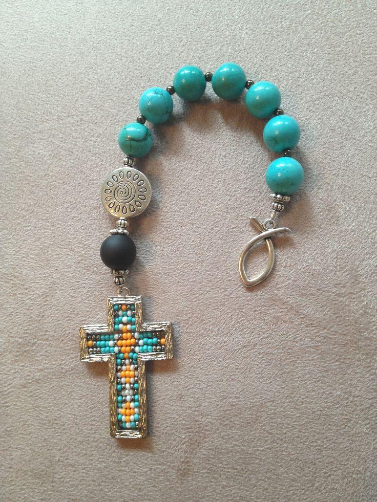 Handmade Christian prayer beads.