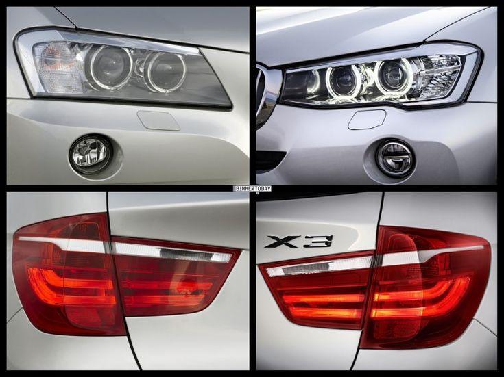 Bild Vergleich BMW X3 F25 xDrive Facelift LCI 2014 05 750x562 photo