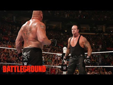 WWE Network: The Undertaker returns to confront Brock Lesnar: WWE Battleground 2015 - YouTube