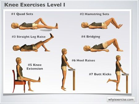 Level 1 Knee exercises: Illustrated therapeutic strengthening exercises