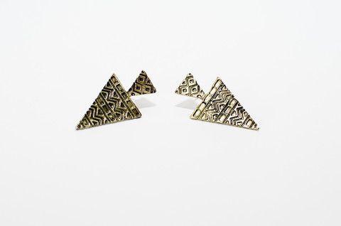 Aztec Earrings - Gold – My Wild Love