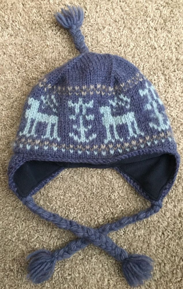 d7703e429 100% Wool Reindeer Hat Insulated with Ear Covers #fashion #clothing ...