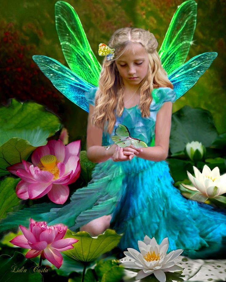 фото фея ангел хорошего качества пемрока небольшим