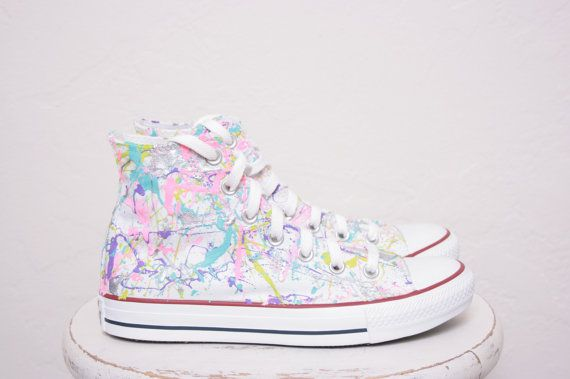 Adult LowTop or HighTop Splatter Painted Converse by theplayhaus, $105.00