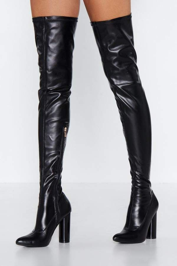 ec5e1a79c9f Cat Woman Forever Thigh-High Boot in 2019 | Tough Love | Boots ...