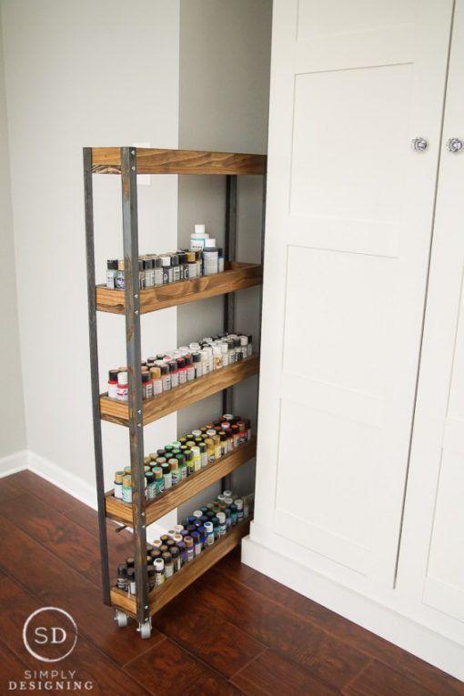 Rolling Paint Storage Craft Organization Idea | Clever Organizer