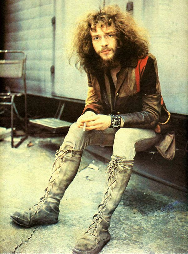 Ian Anderson.  BBC Lime Grove studios, 5 June 1969, for Jethro Tull's 'Living in the Past' recording