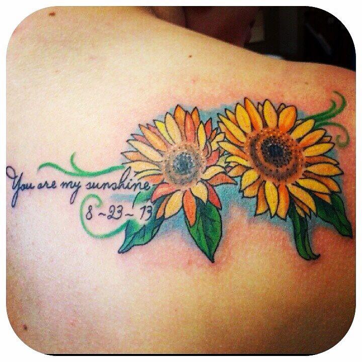 Tattoo Ideas You Are My Sunshine: Sunflower Tattoo. You Are My Sunshine :)