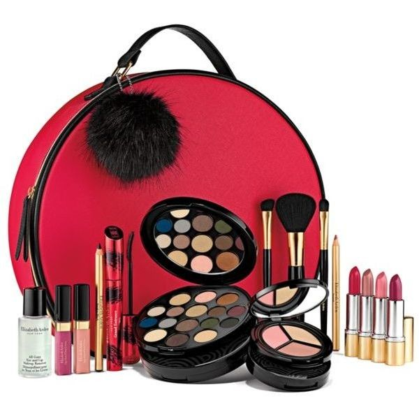 Elizabeth Arden  World Of Makeup Holiday Blockbuster ($50) ❤ liked on Polyvore featuring beauty products, makeup, lip makeup, multi, eye pencil makeup, elizabeth arden cosmetics, elizabeth arden makeup, brush set makeup and pencil eyeliner