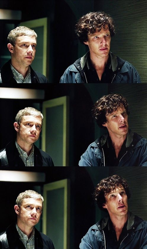 M: Where should we be looking? - S: We? - A: Mr. Holmes! -- John and #Sherlock series 3 episode 3: His Last Vow
