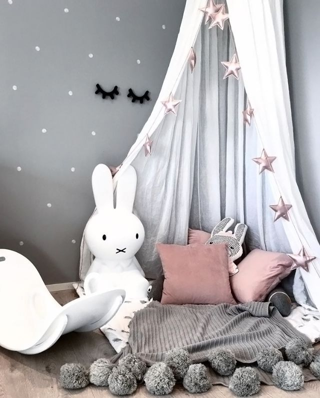 A cute kid's play corner by @stinejmoi, Miffy lamp available at www.istome.co.uk