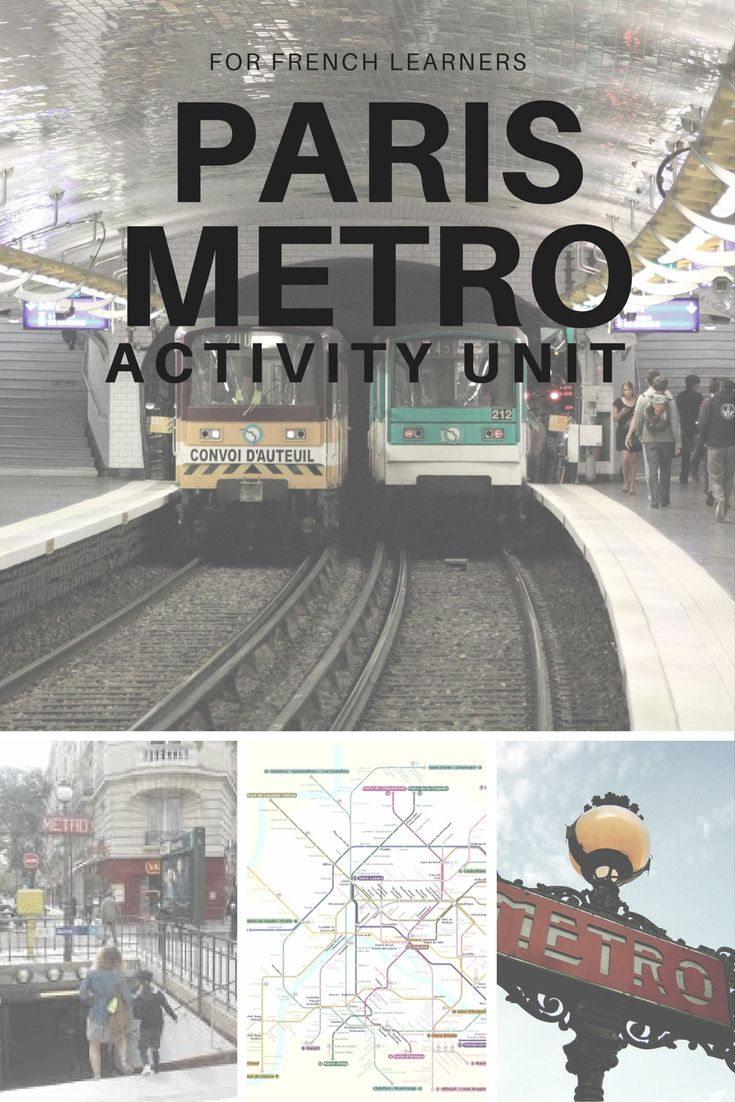 Activity unit about the Paris Metro system: history, usage and more!