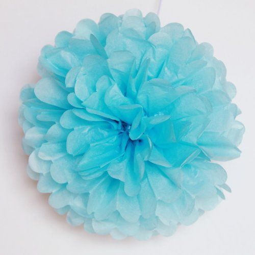 Set of 5 Tissue Paper Pom Pom  PomPomSale Brand  Wedding  Baby Shower  Birthday Party  Nursery Decorations Small 9 Aqua ** Continue to the product at the image link.Note:It is affiliate link to Amazon.