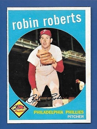 1959 Topps # 352 Robin Roberts Philadelphia Phillies  EX/MT Additional ship free #PhiladelphiaPhillies