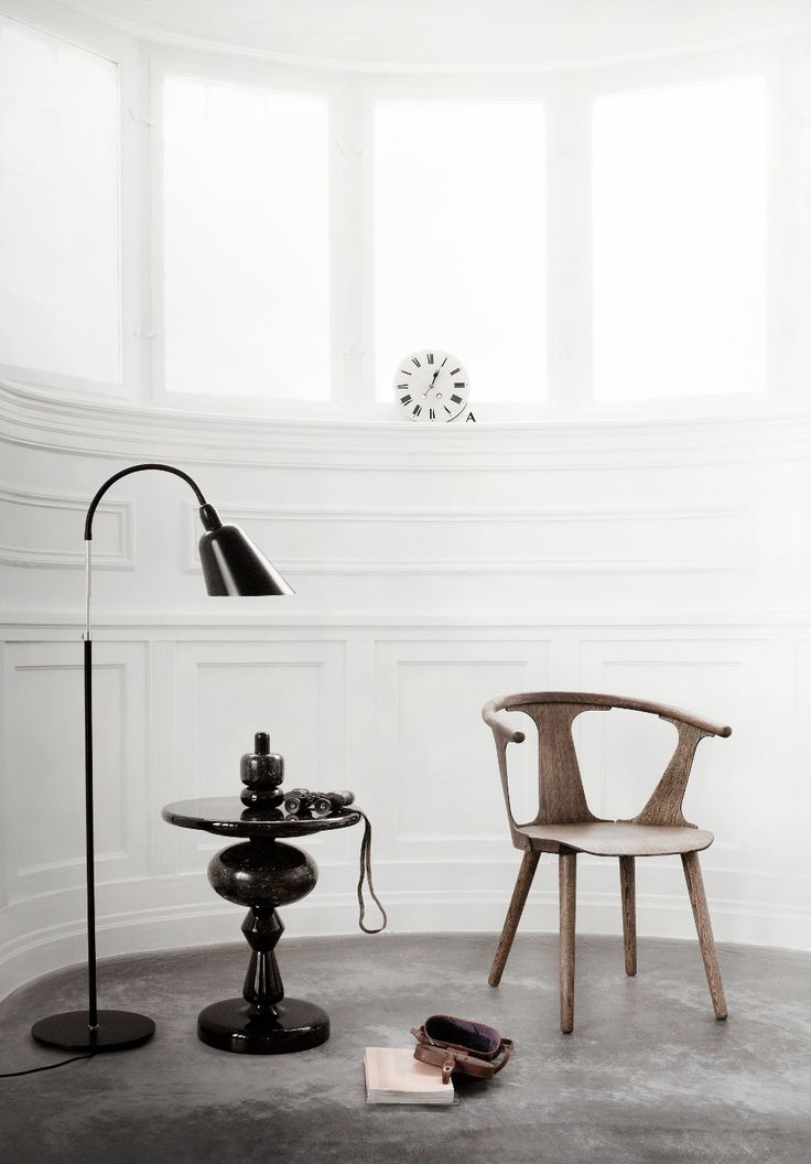Bellevue Floor Lamp By Arne Jacobsen, Shuffle Table By Mia Hamborg And In  Between Chair By Sami Kallio, All Designed For U0026Tradition.