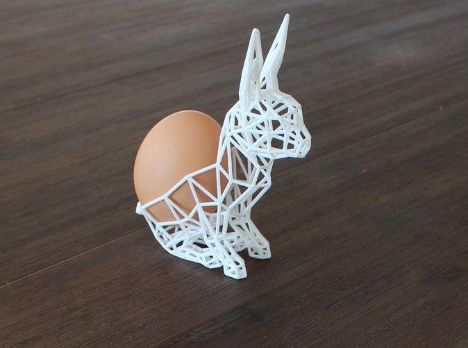 3D printed Easter Bunny Egg Holder by stefdevos