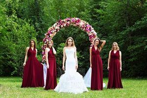 марсала платья подружек невесты