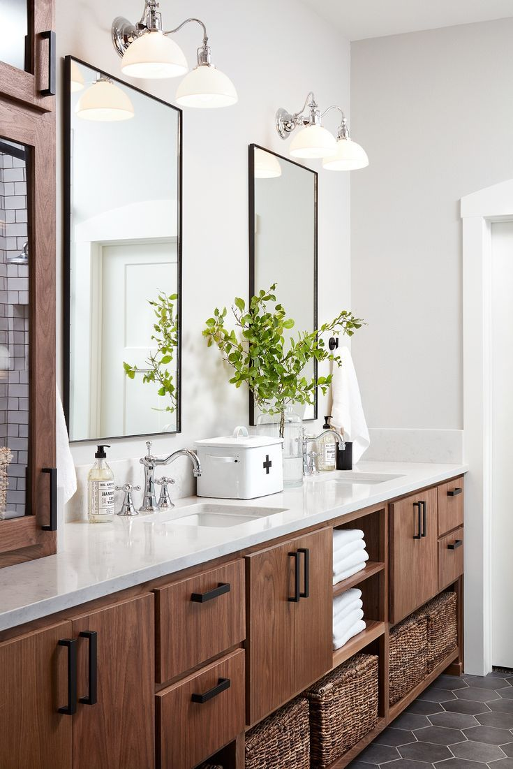Episode 14 Season 5 Modern Farmhouse Bathroom Bathroom Interior Simple Bathroom Fixer upper bathroom colors