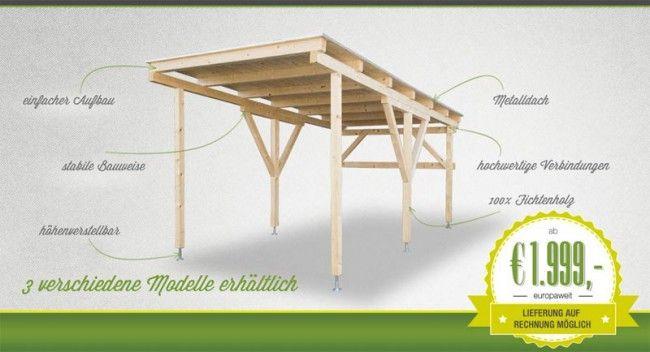 Carport aus Holz direkt von Hersteller