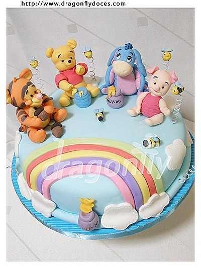 Winnie The Pooh Baby Shower Cake Idea