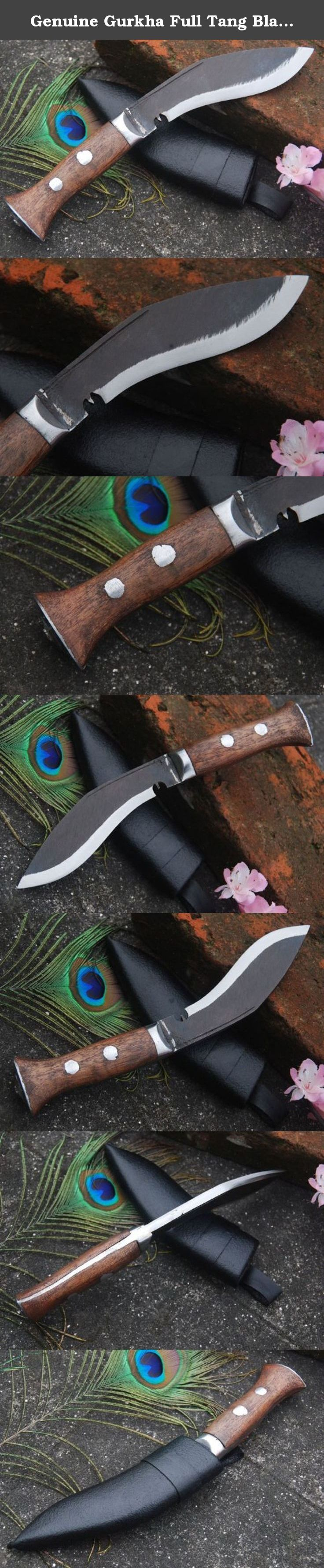 "Genuine Gurkha Full Tang Blade Kukri Knife - 5"" Blade Panawal Rust Free Angkhola Kitchen Kukri - Handmade By Ex Gurkha Khukuri House in Nepal. 5"" Blade Panawal Rust Free Angkhola Kitchen Khukuri Full Tang Handle Kukri. This is smallest steel blade khukuri and is used for cutting vegetables and meet at kitchen. You can use it as pocket knife for small tasks. This khukuri is named 'Biltong',which has come from south African customer because it is a very popular knife for south Africans…"