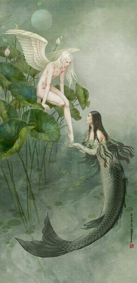 ♒ Mermaids Among Us ♒ art photography paintings of sea sirens water maidens - fairy  mermaid