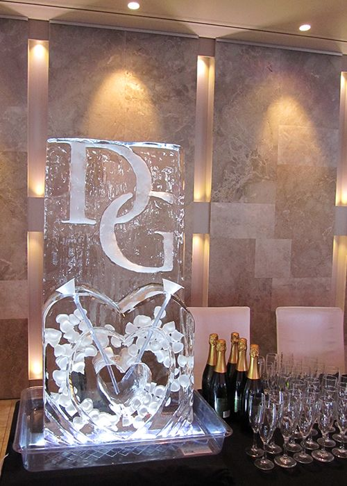 Shut the front door! Champagne ice luge!