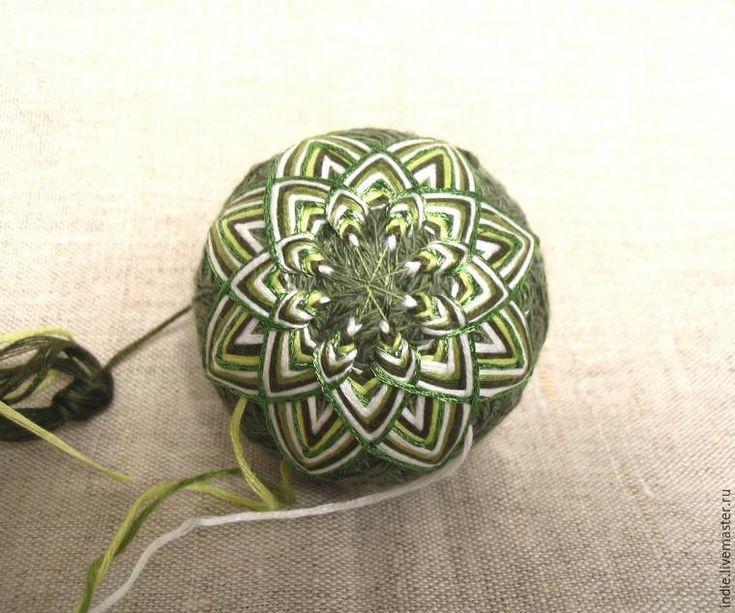 Предлагаю вашему вниманию мастер-класс по изготовлению необычных ёлочных украшений — нарядных шариков-темари. Материалы: - нитки мулине или тонкая хлопковая пряжа ('Ирис', 'Роза' и т. п.); - металлизированные нити; - нитки для основы; - узкие лоскуты ткани; - булавки; - длинная игла с большим ушком; - контейнер из-под 'киндер-сюрприза' или бахил; - чуть-чуть бисера, риса или другого наполнителя для 'погремушки'.…