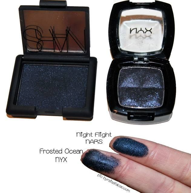 Night Flight by NARS \/\/ Frosted Ocean by NYX #mac #nyx #dupe #swatch #makeup