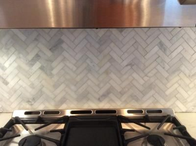 We used this tile for our kitchen backsplash and could not have been more pleased. The quality was fantastic. This is a slightly challenging pattern to install, and you definitely need a good tile saw to cut the marble. We grouted with Mapei warm grey grout, which was a great complement. It was great to find such a quality tile at Lowe's that was easy on the budget. (I am not sure why this is classified as floor tile on the website, might be a mistake.)