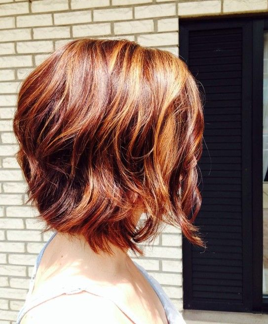 Short Red Hairstyle for 2014 – Side View of Short Red Bob Haircut