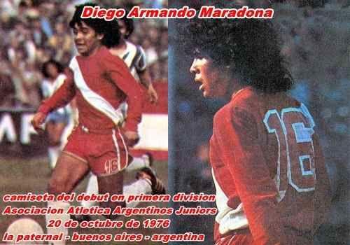 Camiseta De Argentinos Juniors Retro Debut Maradona
