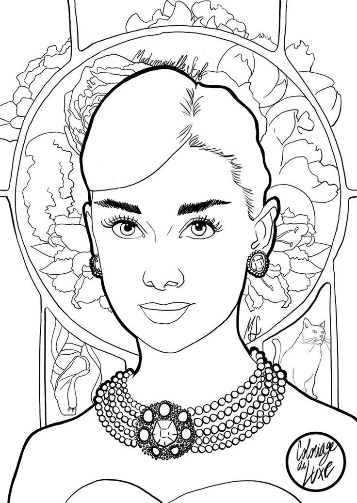 Mademoiselle Stef - Blog Mode, Dessin, Paris | Coloriage : Audrey Hepburn | http://www.mademoisellestef.com